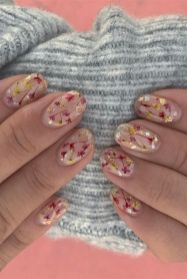 50 Floral Nail Art for Summer and Spring Ideas 14