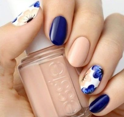 50 Floral Nail Art for Summer and Spring Ideas 37