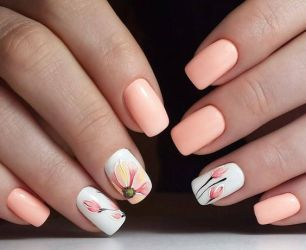 50 Floral Nail Art for Summer and Spring Ideas 6