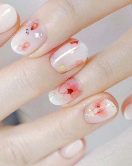 50 Floral Nail Art for Summer and Spring Ideas 8