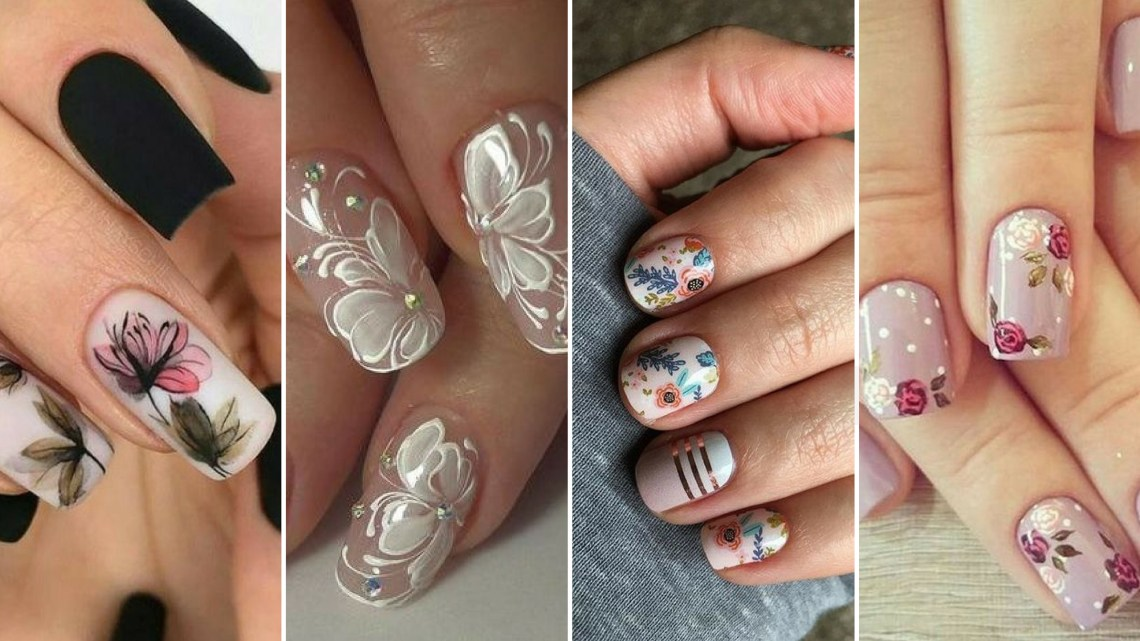 50 Floral Nail Art for Summer and Spring Ideas
