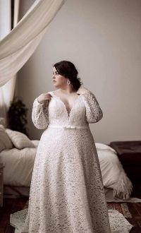 50 V Neck Bridal Dresses for Plus Size Ideas 25