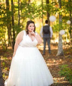 50 V Neck Bridal Dresses for Plus Size Ideas 27
