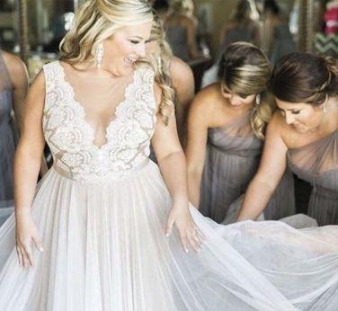 50 V Neck Bridal Dresses for Plus Size Ideas 3