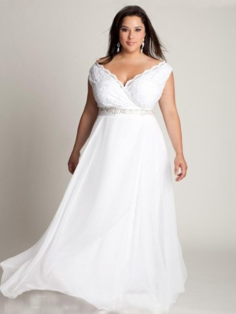 50 V Neck Bridal Dresses for Plus Size Ideas 44