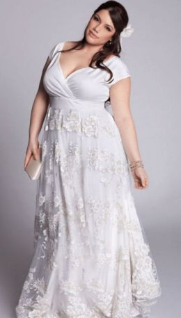 50 V Neck Bridal Dresses for Plus Size Ideas 45