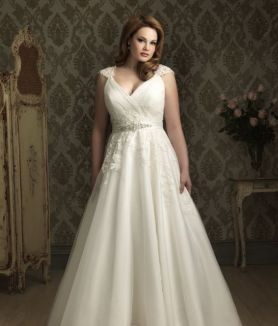 50 V Neck Bridal Dresses for Plus Size Ideas 48