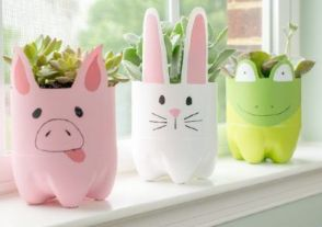 50 Ways to Reuse Plastic Bottles to Cute Planters Ideas 33