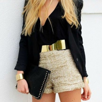 50 Ways to Wear Gold Belts Ideas 27