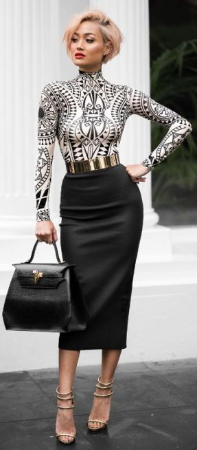 50 Ways to Wear Gold Belts Ideas 7