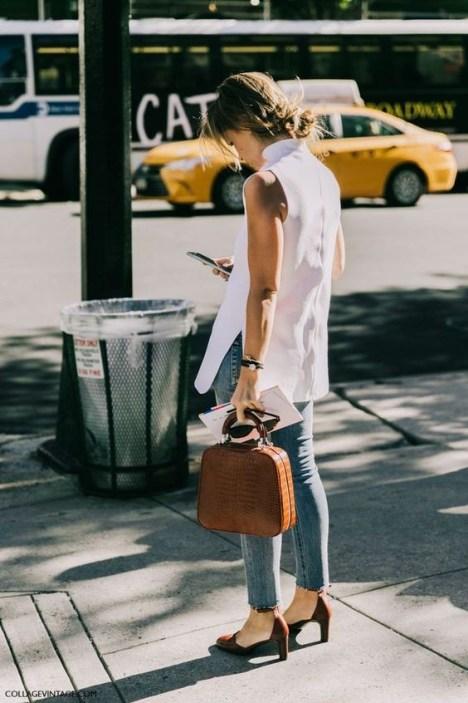 50 Ways to Wear White Sleeveless Top Ideas 26