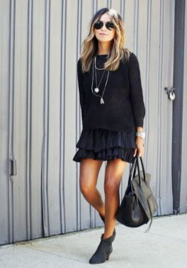 60 Spring and Summer All Black Outfits Ideas 10