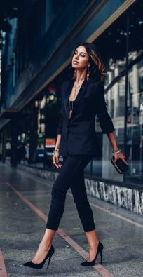 60 Spring and Summer All Black Outfits Ideas 34