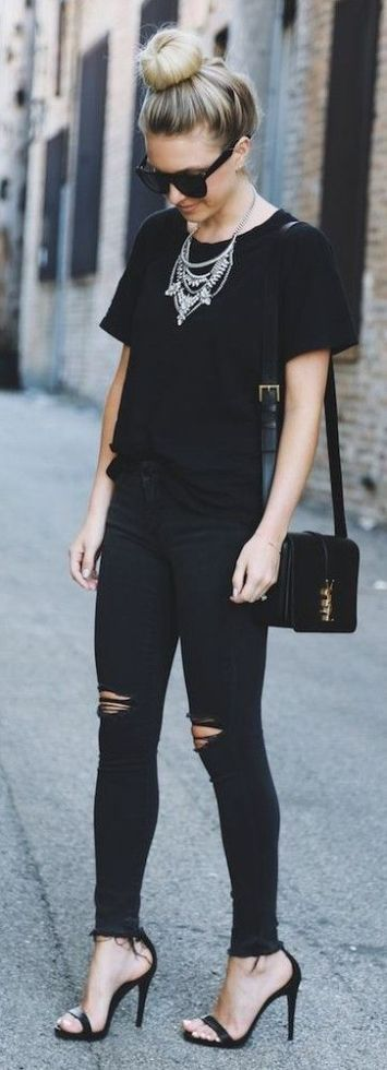 60 Spring and Summer All Black Outfits Ideas 47
