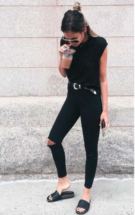 60 Spring and Summer All Black Outfits Ideas 52