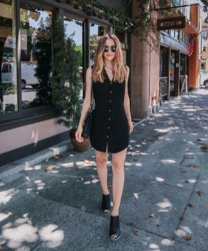 60 Spring and Summer All Black Outfits Ideas 54