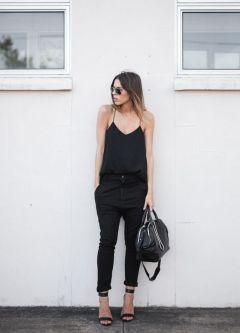 60 Spring and Summer All Black Outfits Ideas 63
