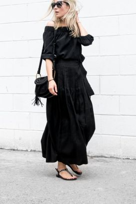 60 Spring and Summer All Black Outfits Ideas 65