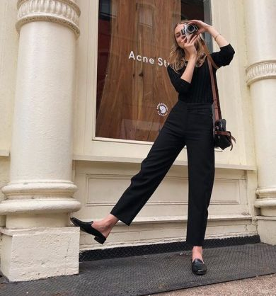 60 Spring and Summer All Black Outfits Ideas 9