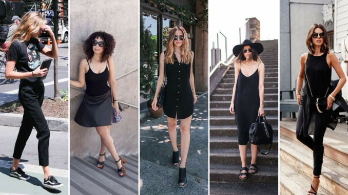 60 Spring and Summer All Black Outfits Ideas