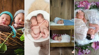 100 Cute Twins New Born Photography You Can Copy