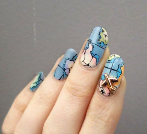 30 Earth Day Nails Art Ideas 2 4