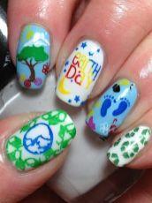 30 Earth Day Nails Art Ideas 21