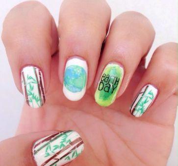 30 Earth Day Nails Art Ideas 38 1