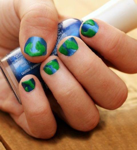 30 Earth Day Nails Art Ideas 5 2