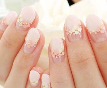 30 Glam Wedding Nail Art for Bride Ideas 11