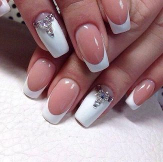 30 Glam Wedding Nail Art for Bride Ideas 13