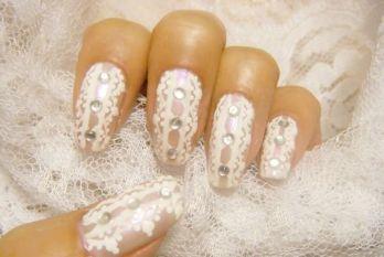 30 Glam Wedding Nail Art for Bride Ideas 18