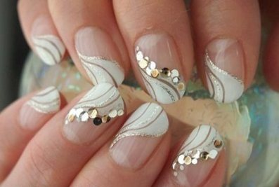 30 Glam Wedding Nail Art for Bride Ideas 27