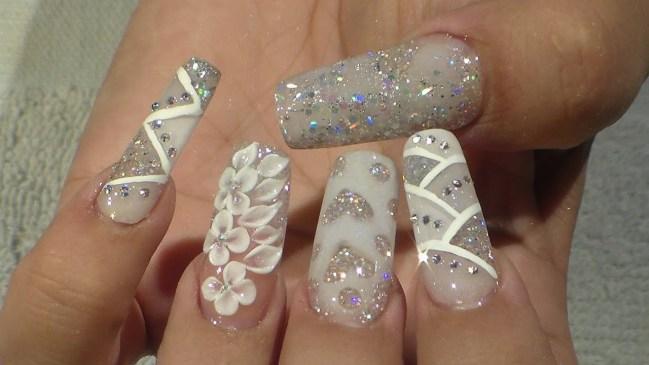 30 Glam Wedding Nail Art for Bride Ideas 29