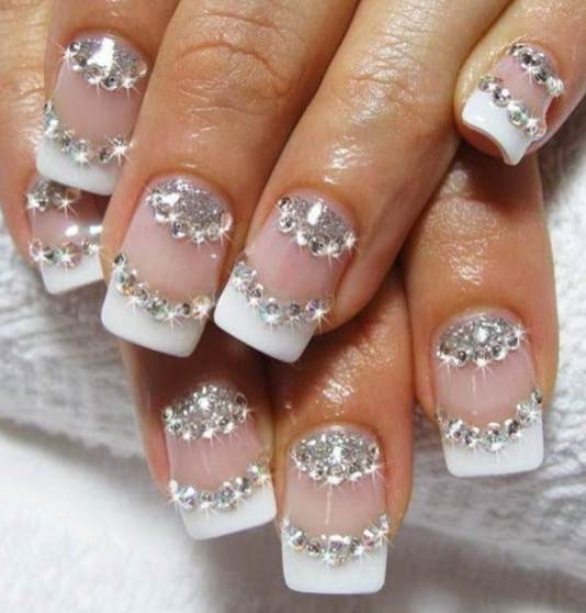 30 Glam Wedding Nail Art for Bride Ideas 3