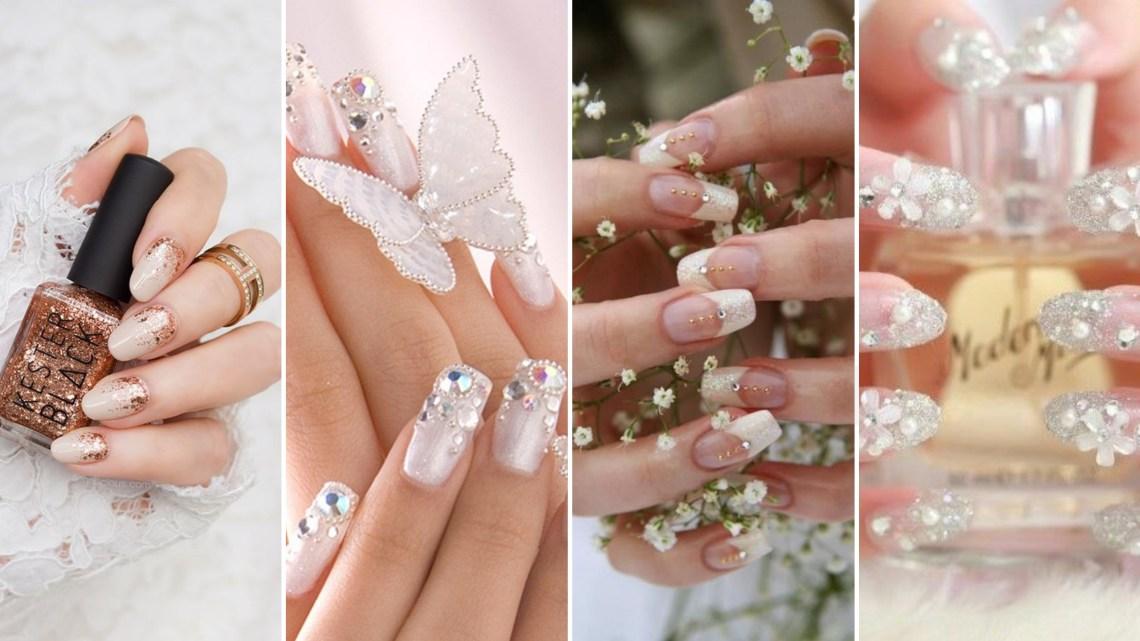 30 Glam Wedding Nail Art for Bride Ideas