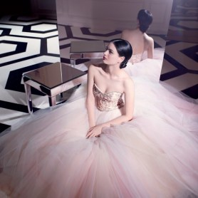 30 Soft Color Look Bridal Dresses Ideas 12