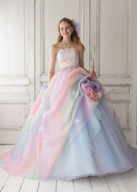 30 Soft Color Look Bridal Dresses Ideas 15