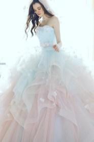 30 Soft Color Look Bridal Dresses Ideas 16