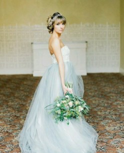 30 Soft Color Look Bridal Dresses Ideas 18