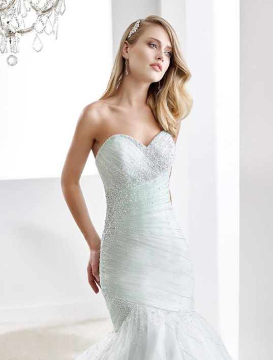 30 Soft Color Look Bridal Dresses Ideas 19