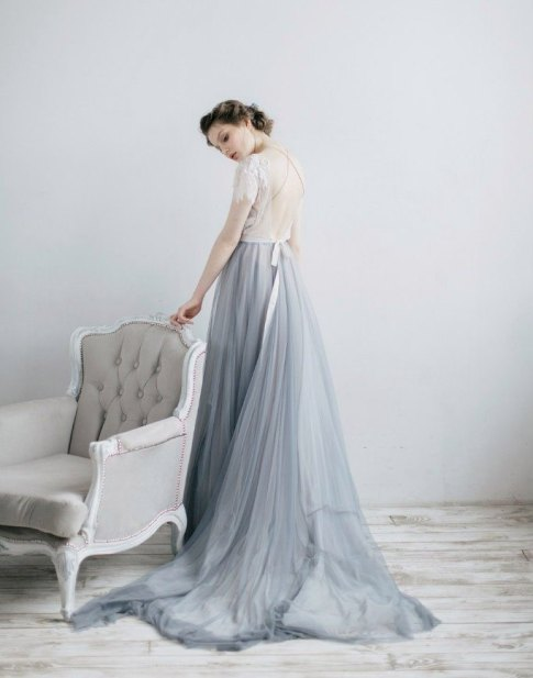 30 Soft Color Look Bridal Dresses Ideas 22