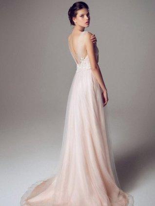30 Soft Color Look Bridal Dresses Ideas 9