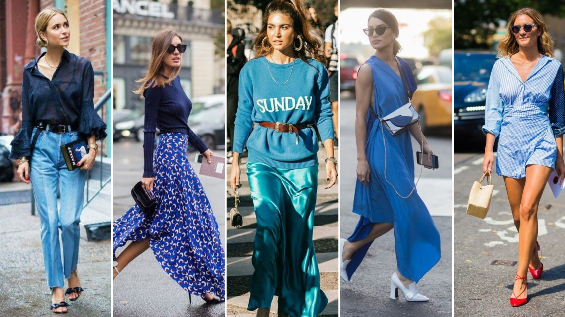 40 All Blue Outfits Street Styles Ideas