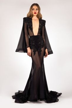40 Black Mesh Long Dresses Ideas 1