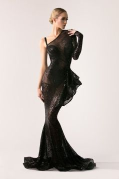 40 Black Mesh Long Dresses Ideas 14