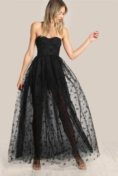 40 Black Mesh Long Dresses Ideas 22