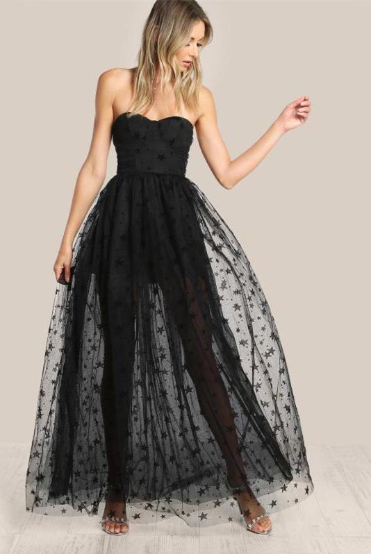 40 Black Mesh Long Dresses Ideas 22