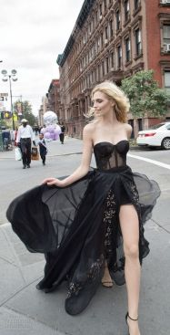 40 Black Mesh Long Dresses Ideas 35