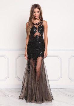 40 Black Mesh Long Dresses Ideas 38